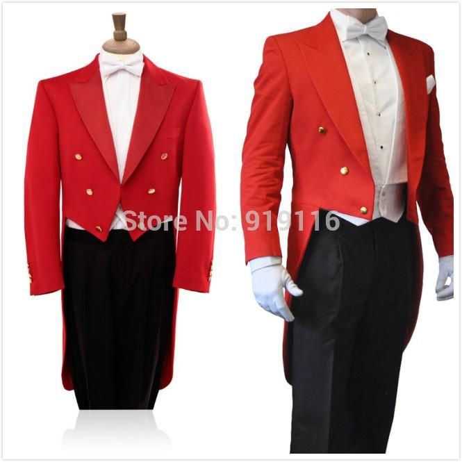 2015 High Quality Pure Red Tailcoat Peak Lapel Groom'S Wedding Tuxedos/Groom Suit/Bestman'S TuxedosJacket+Pants+Bowtie+Pocketsquare Mens Wedding Tuxedos Ideas Purple Tuxedos From Liverbridalltd, $83.88| Dhgate.Com