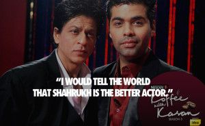 King of bollywood #Shahrukh khan #quotes and karan johar