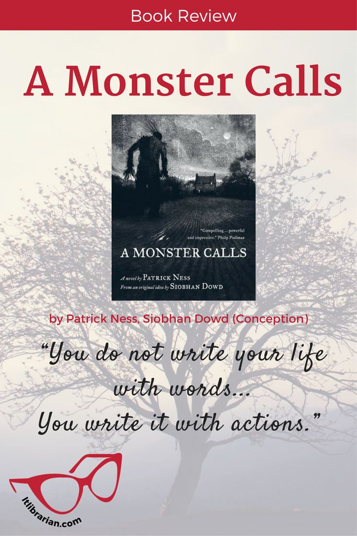 What a boy does when a monster visits him in the night. 5-stars, a fantastic read #AMonsterCalls #amreading  Middle grade books. books about coping.