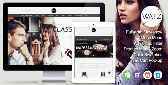 Watch Store Responsive Shopify Theme - WATZ