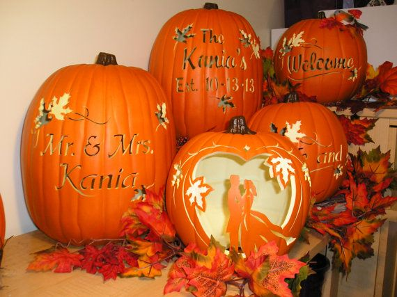 Fall Wedding Bride and Groom Carved by purpleinkgraphics on Etsy