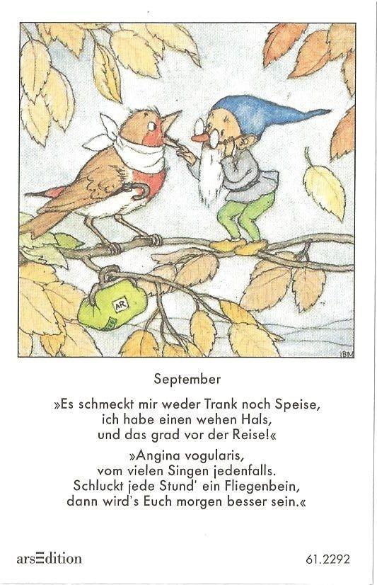 Fleißbildchen - Original Ida Bohatta - ars 61.2292 - September