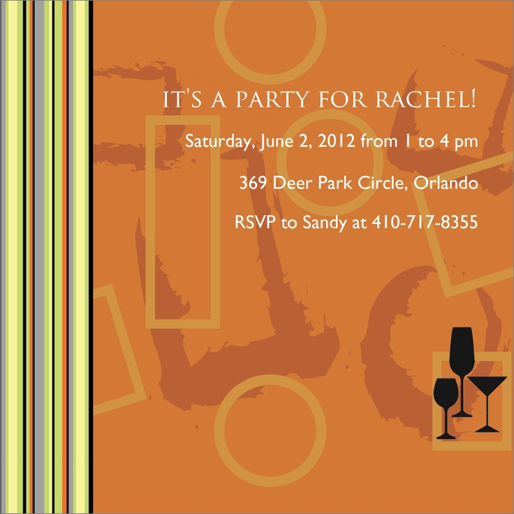 37 best Adult Birthday Party Invitations images on Pinterest ...
