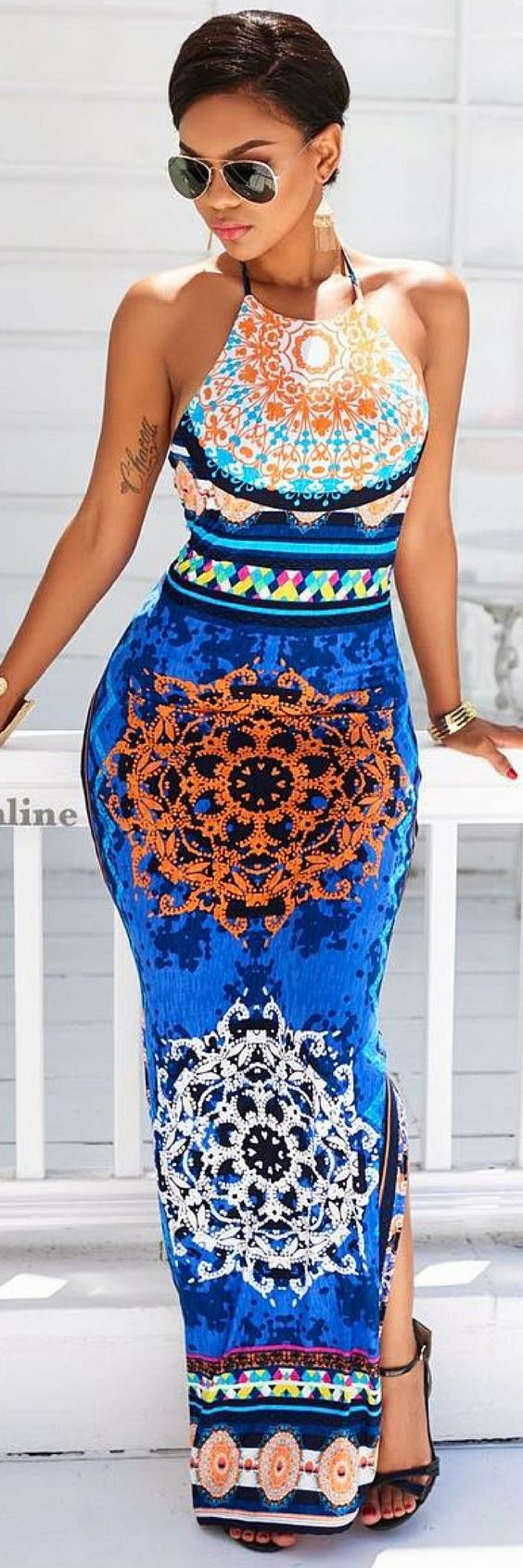 """Maldives"" Maxi Dress by Chic Couture Online"