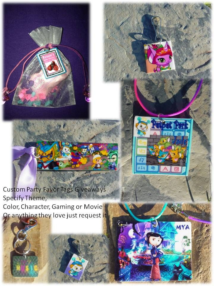 Custom Party Favors Tags & Party Giveaways Accessories For All Occasions & Events