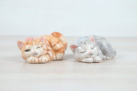 Fitz and Floyd Kristmas Kitty Salt and Pepper Shakers set