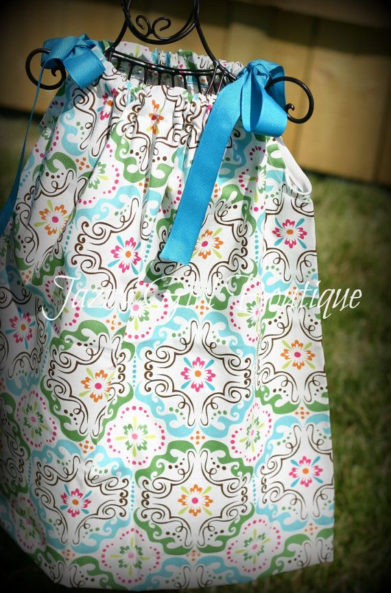 Girls Boutique Dress Pillowcase Style in by JazzyGirlBoutique, $18.75