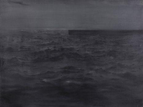 Malecón, 1995. Oleo sobre lienzo, 97x130 cm. Resbier