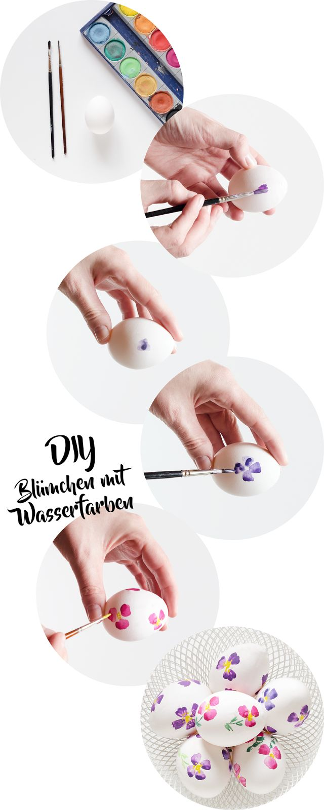 DIY | Easter eggs painted with watercolour