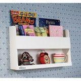 Aufbewahrung im Kinderzimmer | Wandregal fürs Hochbett als Nachttisch-Ersatz, weiss, aus Holz, 33 x 53 x 12 cm, von Tidy Books