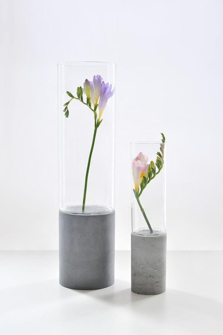 Concrete Vase | Concrete product design | Concrete | Interior | Inspiration…