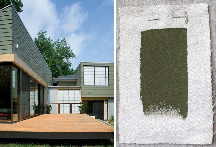 Best Exterior Outdoor Green House Paint Color, Cabot Solid