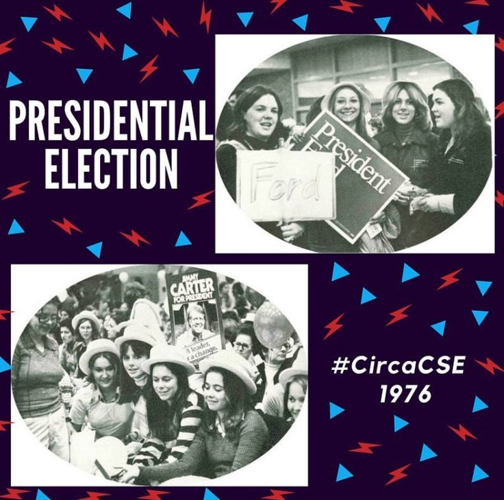 Throwback to CSE students supporting their candidates in the 1976 Presidential Election #FordvCarter