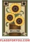 Sunflower Stars Garden Flag