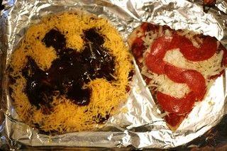 So cute --> Superhero pita pizzas make afterschool snacking a breeze.