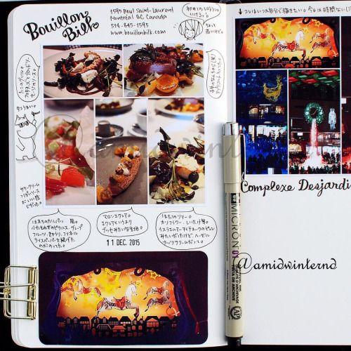 2015-12-11 チョコ星人とのクリスマスディナー。 #BouillonBilk なかなかよかったです(。öᴗö。)♡ もう少し安かったら通うんだけどな〜。 + + + #moleskinejp #moleskine #絵日記倶楽部 #RYOskine #絵日記 #モレスキン #MoleskineSketchbook Please consult the webite link for the info about the Enikki Club 絵日記倶楽部.