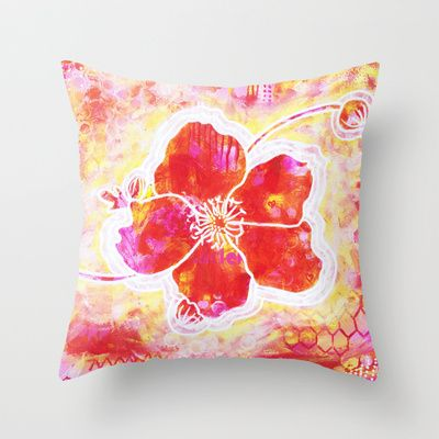 Blomma Throw Pillow by Stina Glaas - $20.00