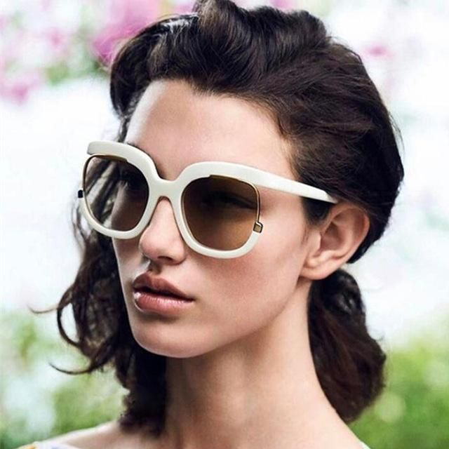 8a668345baf Top Oversized Black Sunglasses Fashion Women Large Size Big Retro Mirror  Sun Glasses Lady Female Vintage