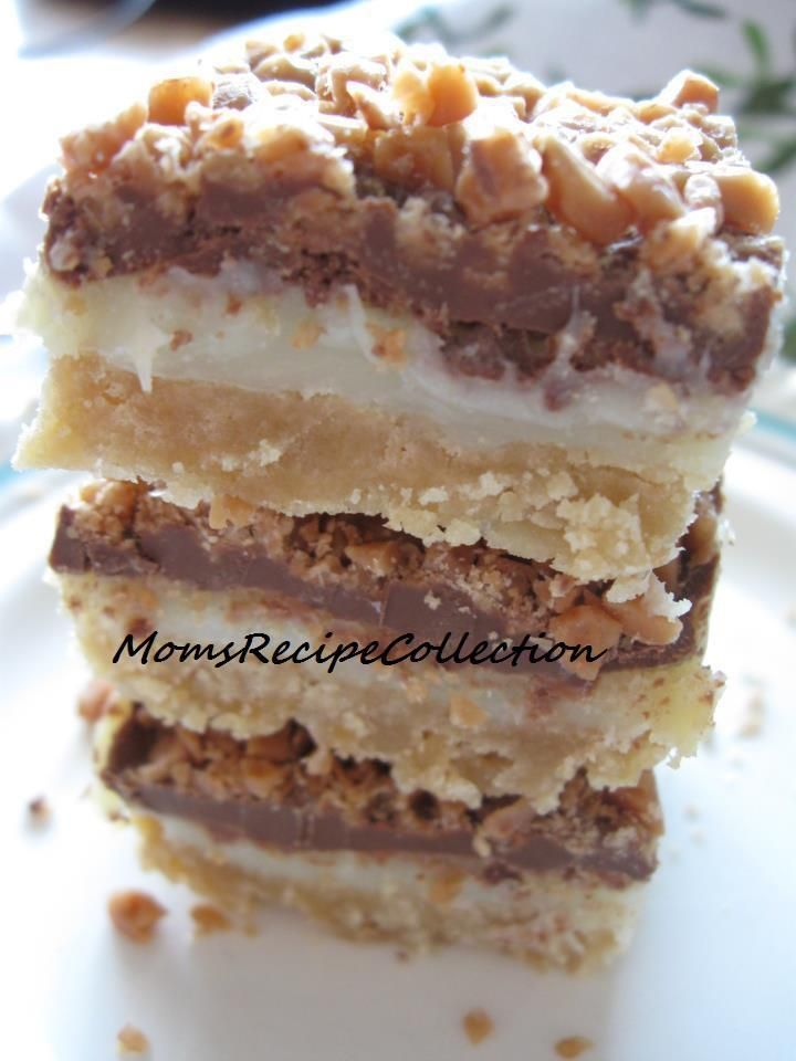 Toffee Chocolate Bars   Base:  3/4 c margarine,softened  3/4 c packed brown sugar  1 1/2 c flour   Topping:   10 oz tin sweetened condens...