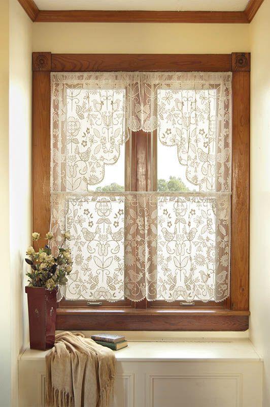 bungalow/cottage window and window seat. pretty.