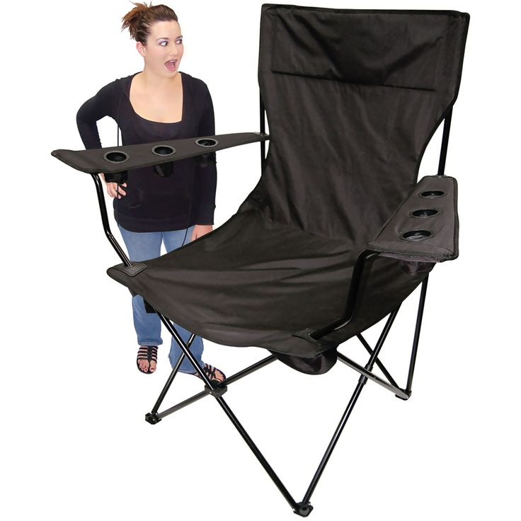 Kingpin Giant Tailgating Chair Black Tailgating Chairs