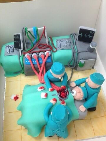 Fantastic cake of a #Cardiothoracic Surgeon in theatre  Credit goes to the baker/icer whonis unknown.  #heart #cardiac