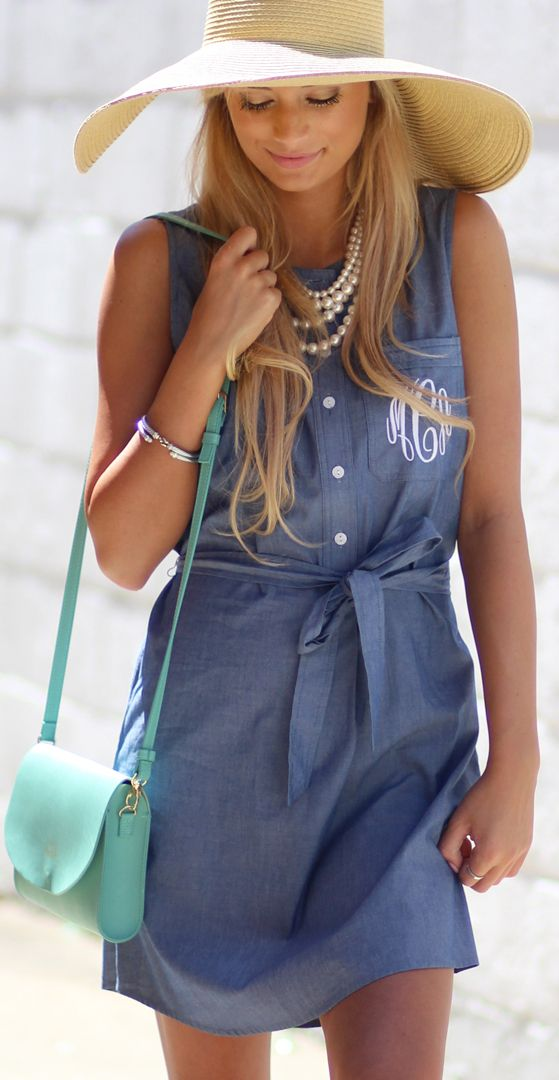 Trying to stay cool AND cute in the heat of the Summer? This Monogrammed Sleeveless Dress a Must-Have!!