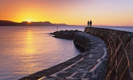 Lyme Bay, off the coast of Lyme Regis. Photograph: Alamy
