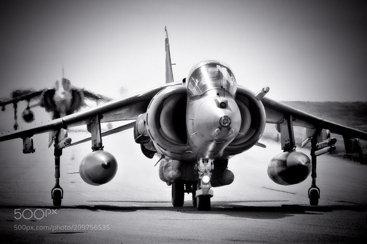 British Aerospace Harrier Pair - My Website | My Flickr | My Facebook 12 years ago today (how scary is that?!) this pair of Harriers was the last of five to taxi out at RAF Cottesmore ahead of a 4-v-1 air combat sortie. How I miss both the Harrier and Cottesmore :-(