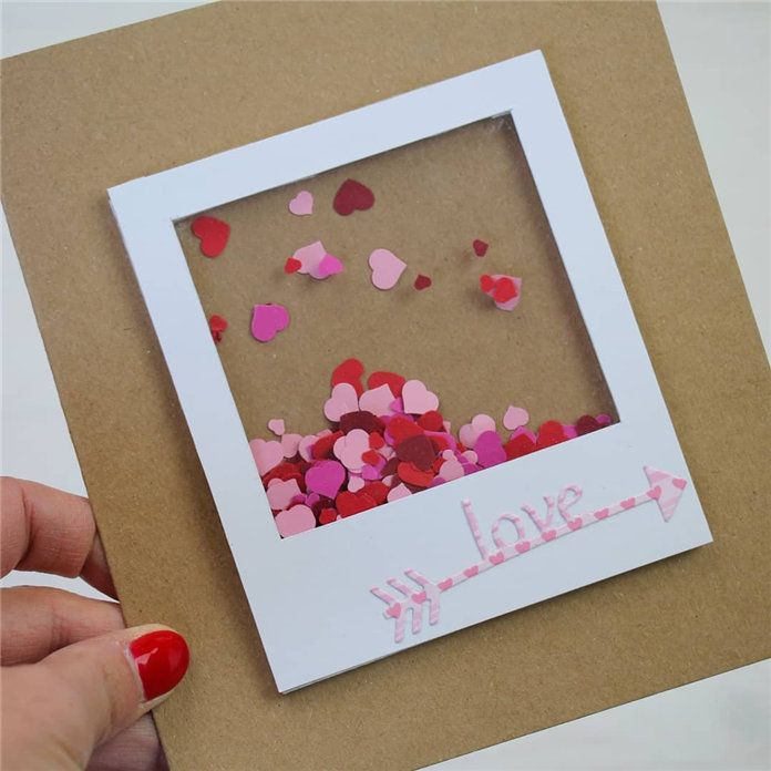Easy Diy Valentine S Day Handmade Cards Ideas Valentine Sdaycard Valentinescard Cards Handmade Valentines Diy Christmas Card Crafts