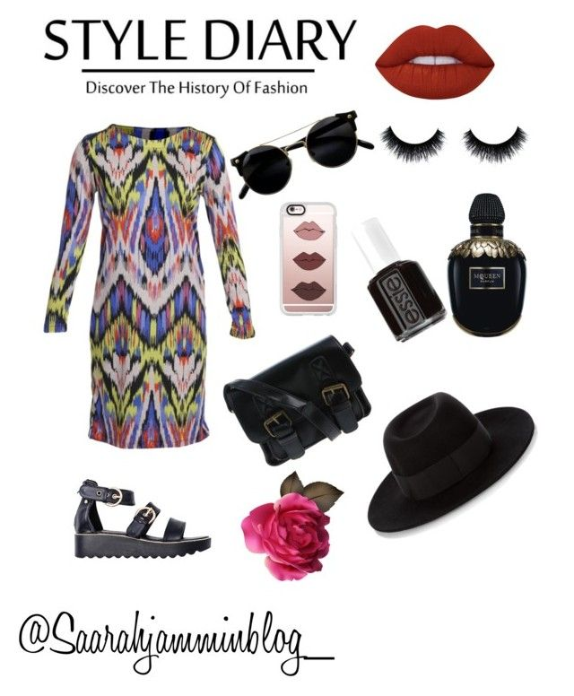 """""""Dolce & zando"""" by saarahwilliams on Polyvore featuring Lime Crime, Alexander McQueen, Essie, Casetify and Maison Michel"""