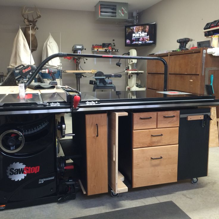 Sawstop Table Saw Station I Made