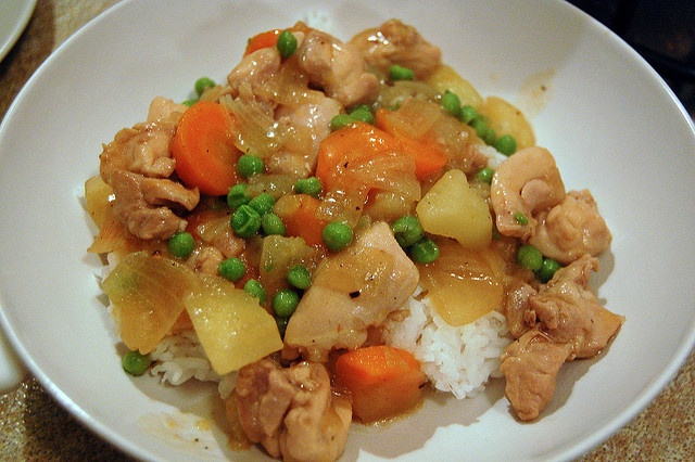 Asian-Style Chicken Stew on Rice by su-lin, via Flickr