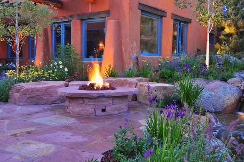 Outdoor Fireplaces and Fire Pits | Designscapes Colorado