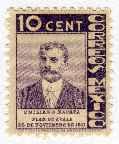 Resultado de imagem para selo de  Emiliano Zapata