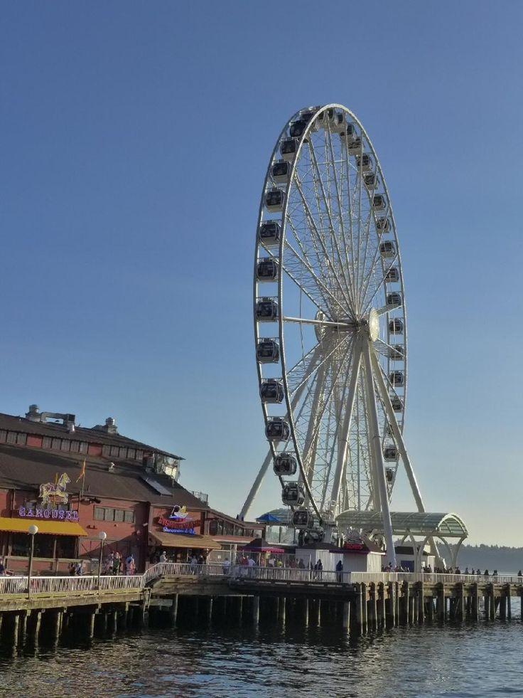 シアトル・グレイト・ウィールは高さ53mの観覧車。シアトル 旅行・観光のおすすめスポット!