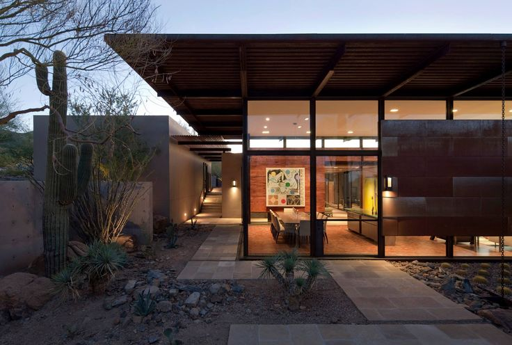Building of the day - The Brown Residence Scottsdale, AZ, United States by Lake|Flato Architects http://www.archdaily.com/155863/the-brown-residence-lakeflato-architects