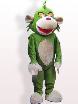 ohlees green  monkey cartoon mascot costumes Halloween party Fancy Dress Adult Size custom made free shipping #Affiliate