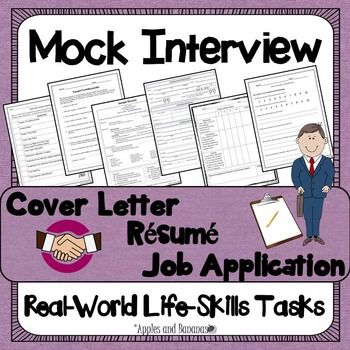Career Readiness – Cover Letter, Résumé, Job Application, and Mock Interview