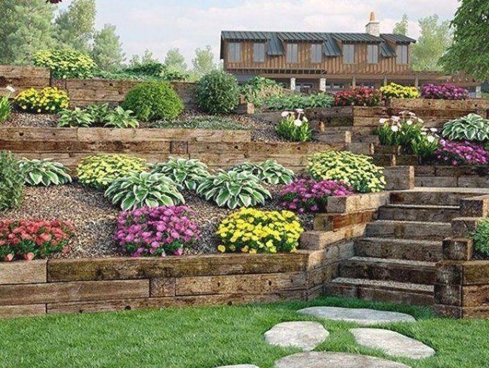 Pin By Antonina R Manning On Garden In 2020 Sloped Garden Front Garden Landscape Backyard Hill Landscaping