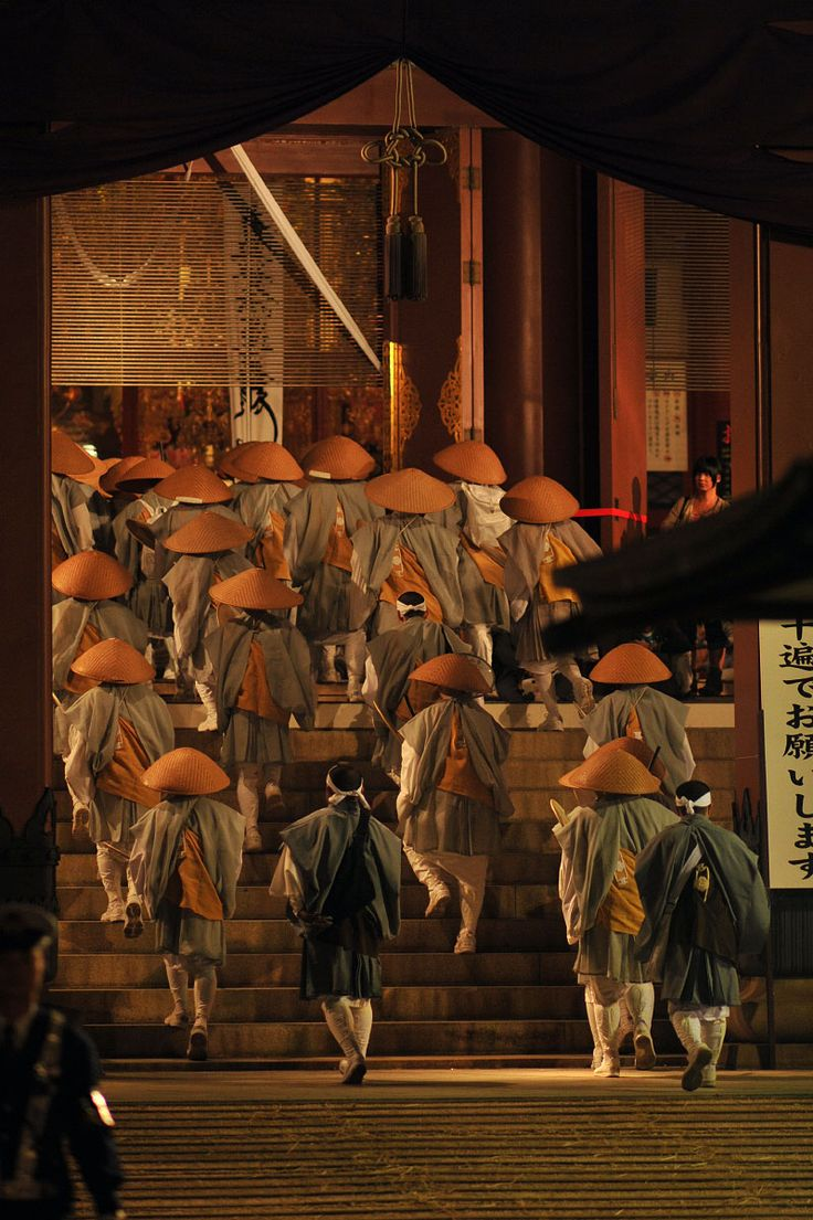 Procession of monks, Oeshiki festival, Ikegami district, Tokyo by tokyobling