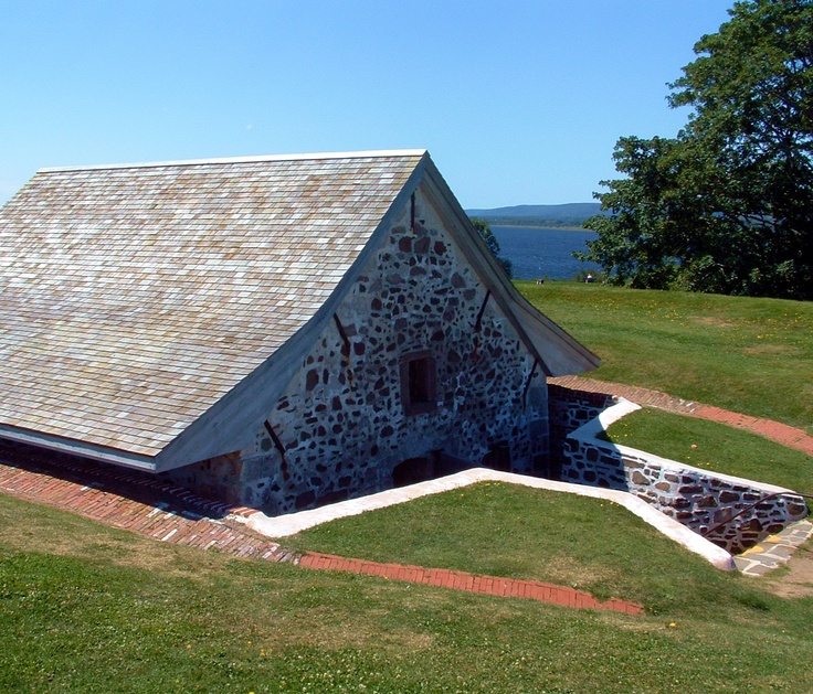 Fort Anne National Historic Site of Canada is Canada's oldest - a present day reminder of a time when conflict between Europe's empire builders was acted out on the shores of the Annapolis River. It offers a sweeping view of the beautiful Annapolis Basin from the centre of Annapolis Royal, Nova Scotia. Museum exhibits highlight the history of the fort. Images By Rediscovering Canada.