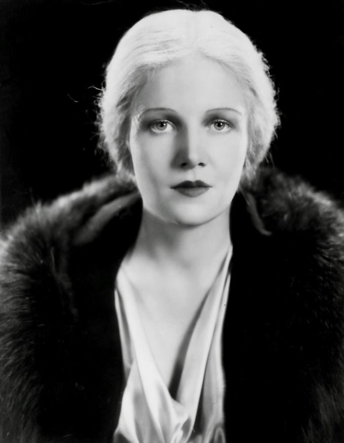 """Ann Harding, 1932  """"Because of her stage experience, she was much in demand in the early days of talking pictures when there was a scarcity of beautiful actresses in Hollywood who knew how to deliver a line."""" - New York Times obituary, 1981"""