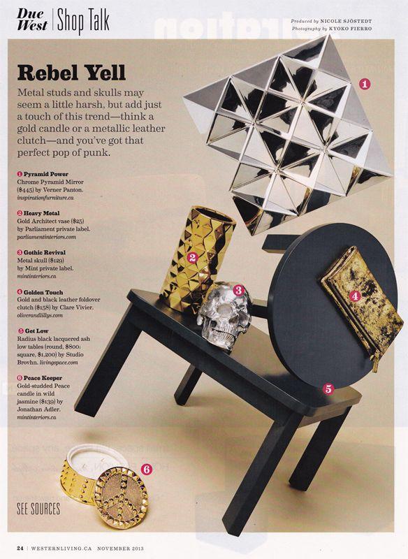 Studio Brovhn Radius side/low tables featured in the November 2013 issue of @Renee Peterson Peterson Coetzee Living   #studiobrovhn #furniture