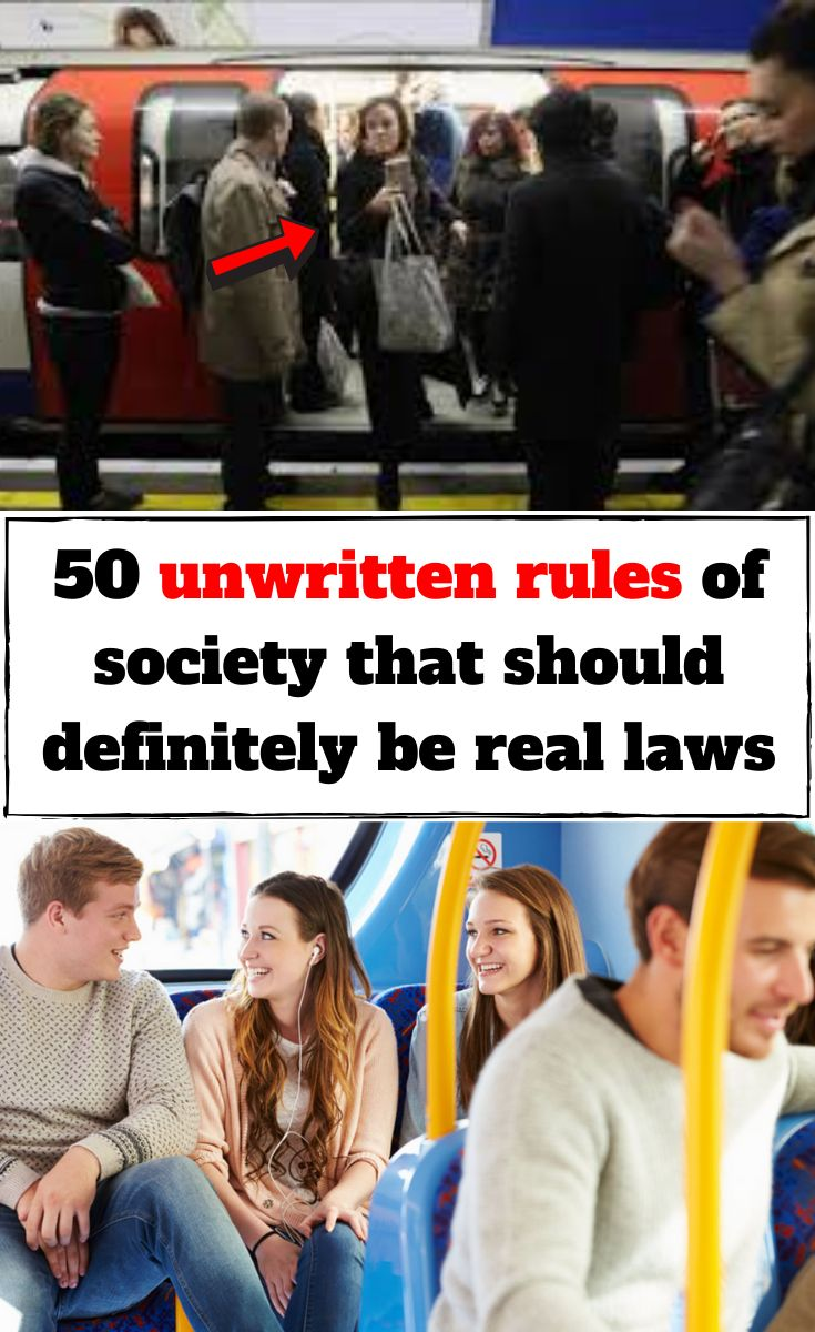 50 unwritten rules of society that should definitely be