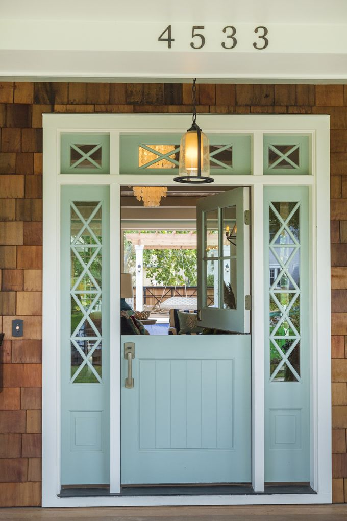 House of Turquoise: Mpls.St.Paul Magazine ASID MN Showcase Home  fabulous Dutch door painted Benjamin Moore's Wythe Blue