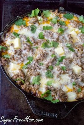 Ten Low-Carb Skillet Meals featured for Low-Carb Recipe Love on KalynsKitchen.com