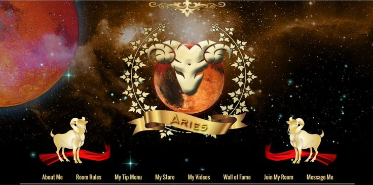 Download Aries custom MyFreeCams profile design  Horoscope sign Aries - new concept by Studio CSSMFC Productions.</strong>  The template is based on Royal Black . The biggest difference between Aries themed template and Royal Black is the editable content from the header section.