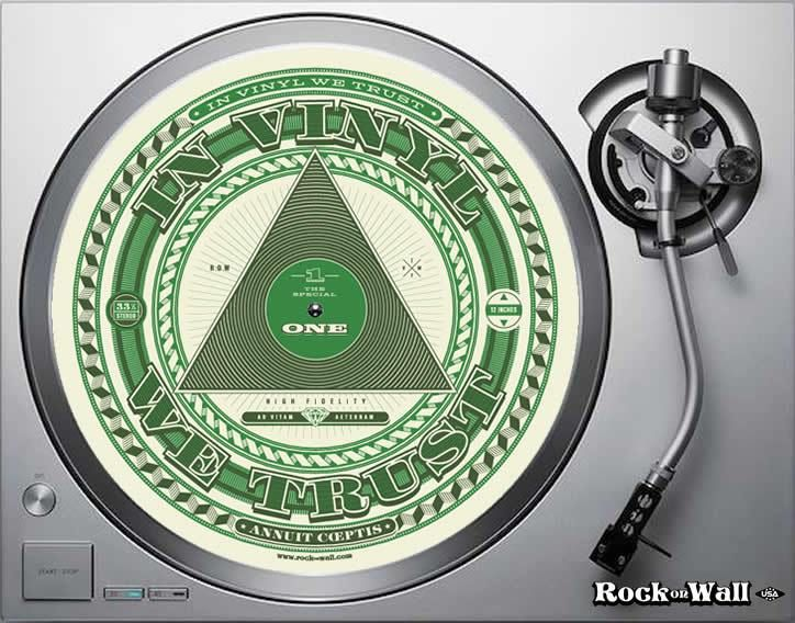 In Vinyl We Trust Felt Turntable Mat On Turntable With Images Vinyl Record Frame Vinyl Record Player