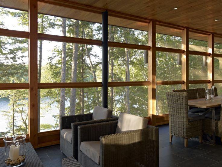 Altius Architecture Inc : Lake Joseph Cottage - screened-in porch. www.altius.net
